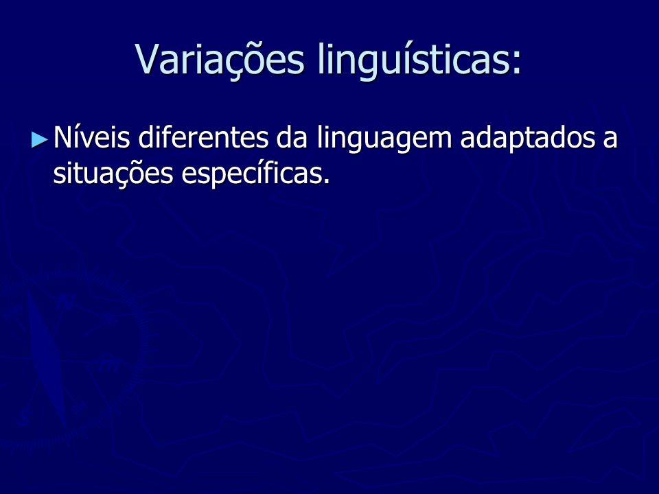 Variações linguísticas: