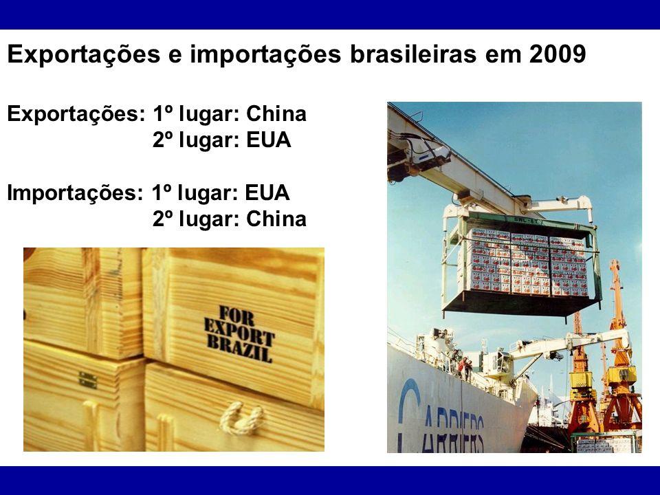 Exportações e importações brasileiras em 2009