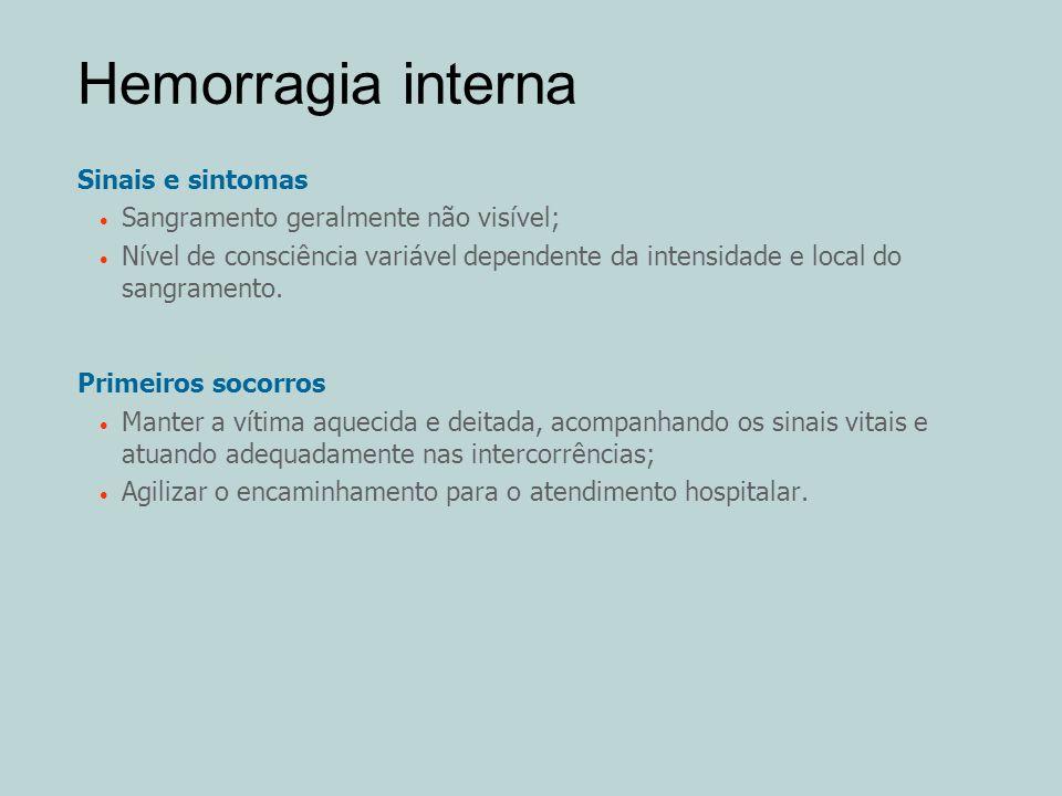 Hemorragia interna Sinais e sintomas
