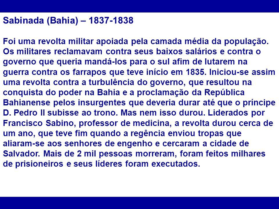 Sabinada (Bahia) – 1837-1838