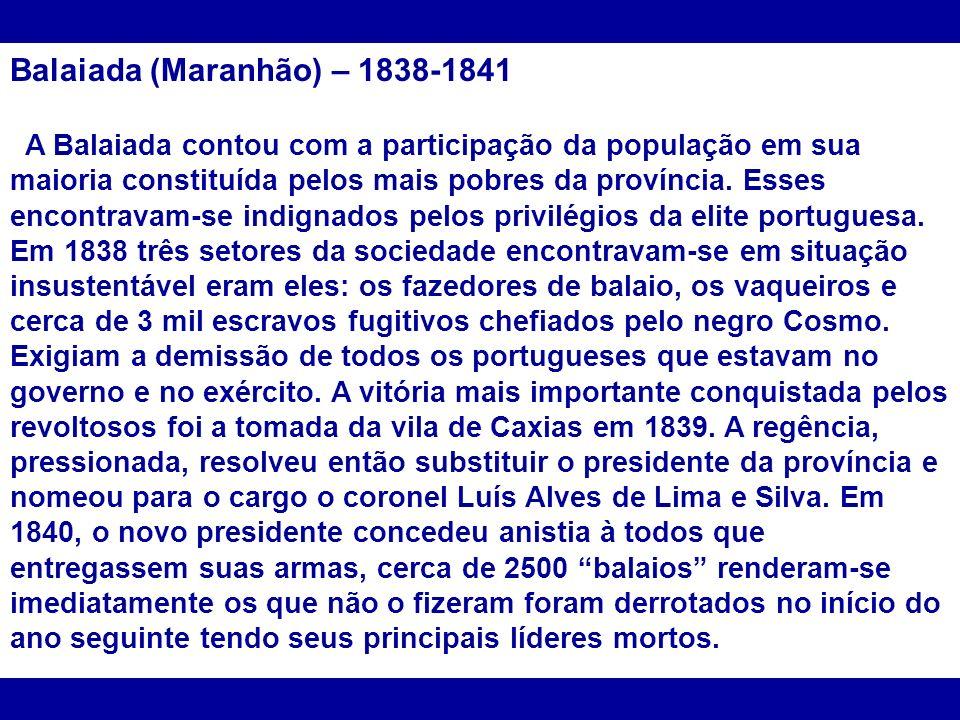 Balaiada (Maranhão) – 1838-1841