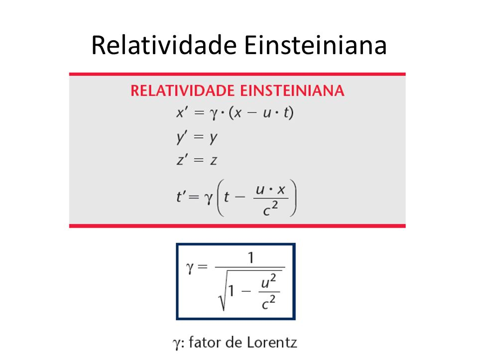 Relatividade Einsteiniana