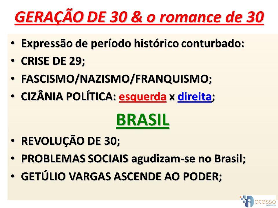GERAÇÃO DE 30 & o romance de 30