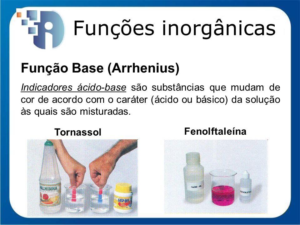 Funções inorgânicas Função Base (Arrhenius)