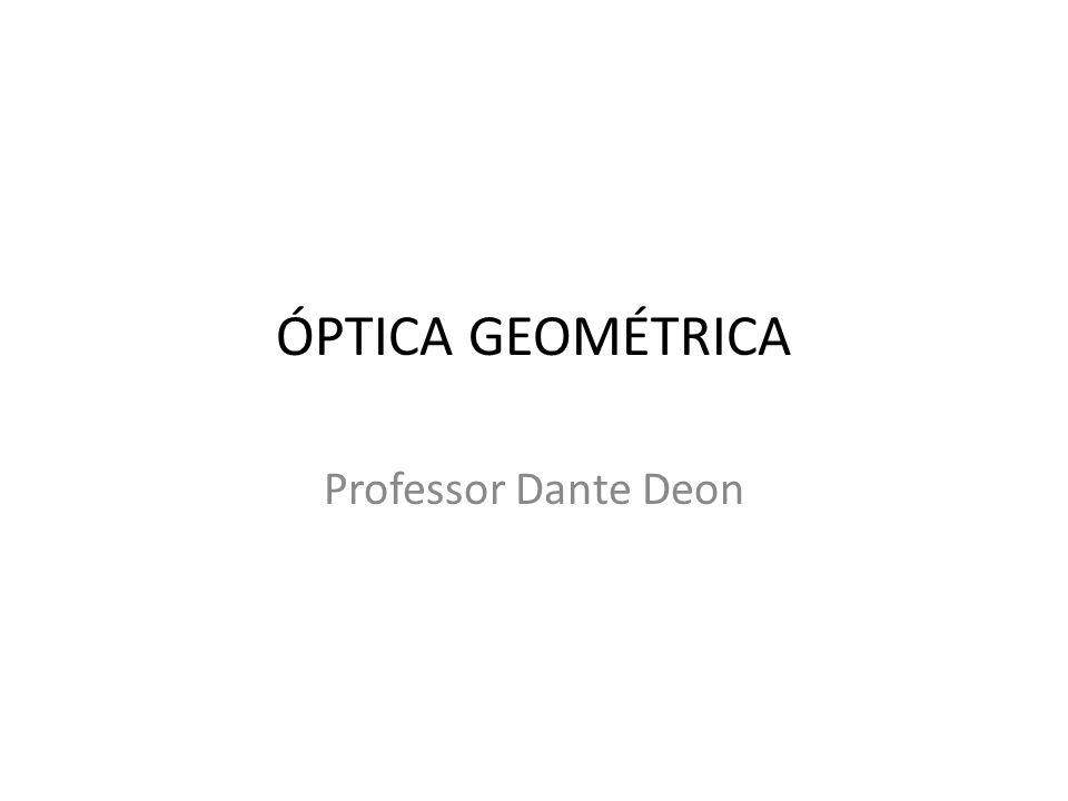 Óptica Geométrica Professor Dante Deon
