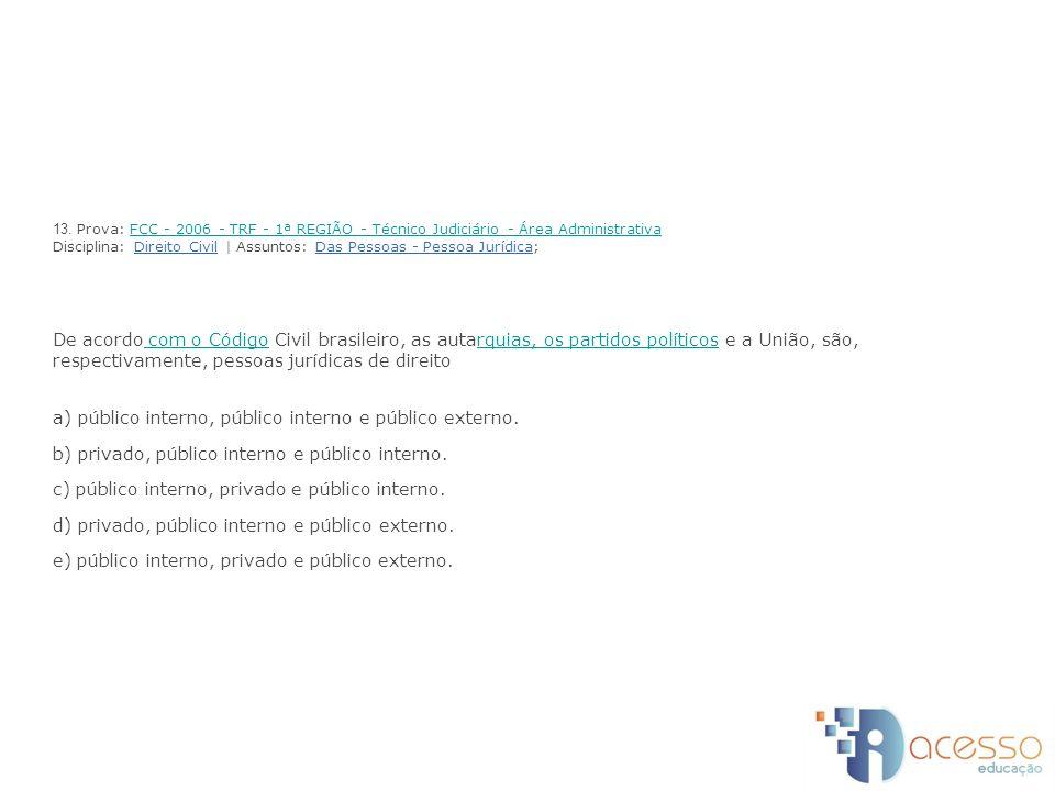 a) público interno, público interno e público externo.
