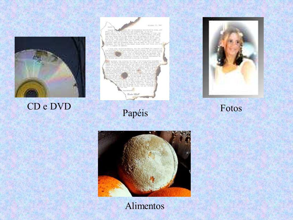 CD e DVD Fotos Papéis Alimentos