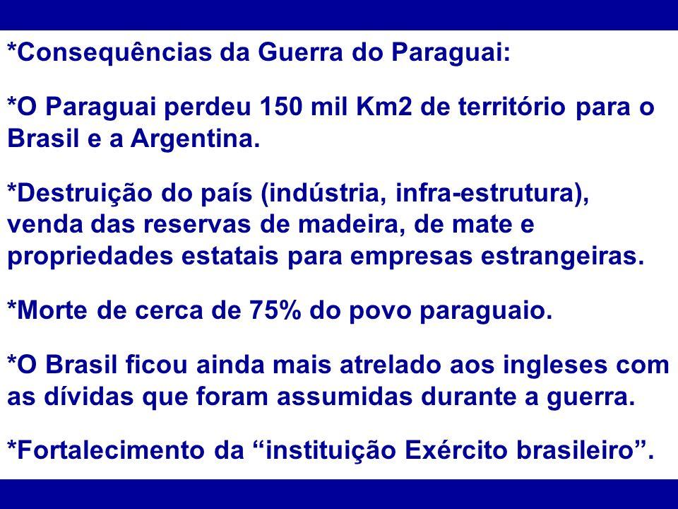 *Consequências da Guerra do Paraguai: