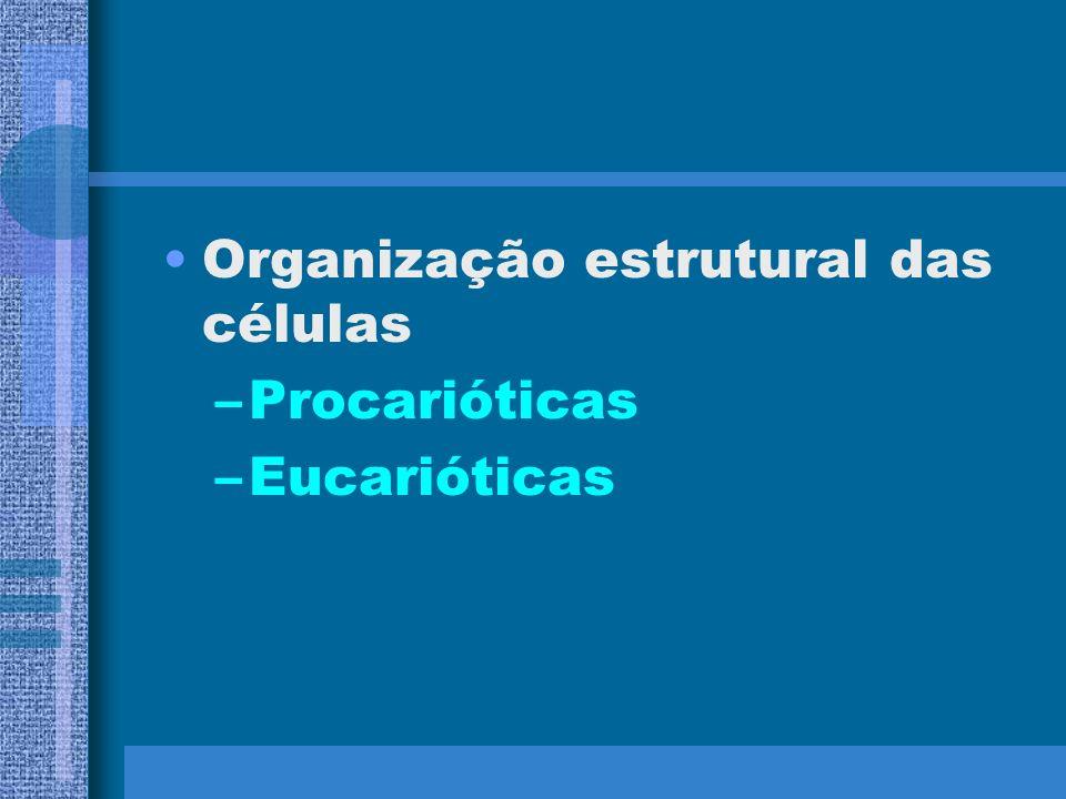 Organização estrutural das células