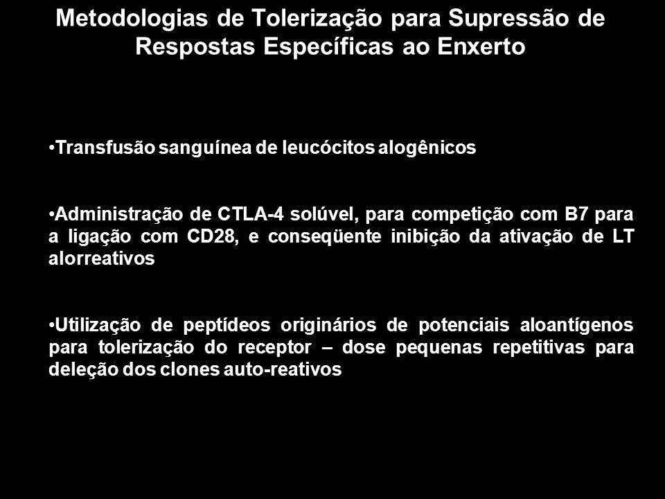 Metodologias de Tolerização para Supressão de Respostas Específicas ao Enxerto