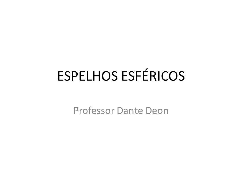 ESPELHOS ESFÉRICOS Professor Dante Deon