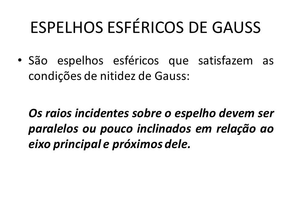 ESPELHOS ESFÉRICOS DE GAUSS