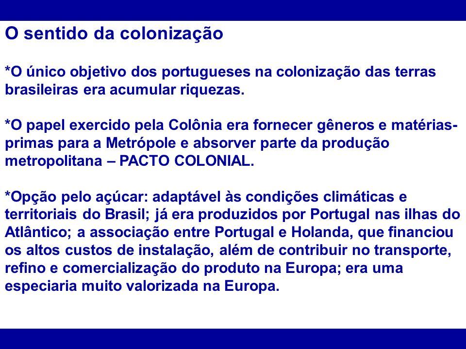 O sentido da colonização