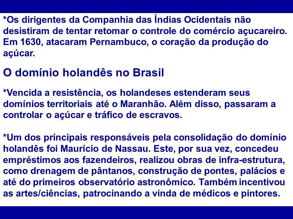 O domínio holandês no Brasil