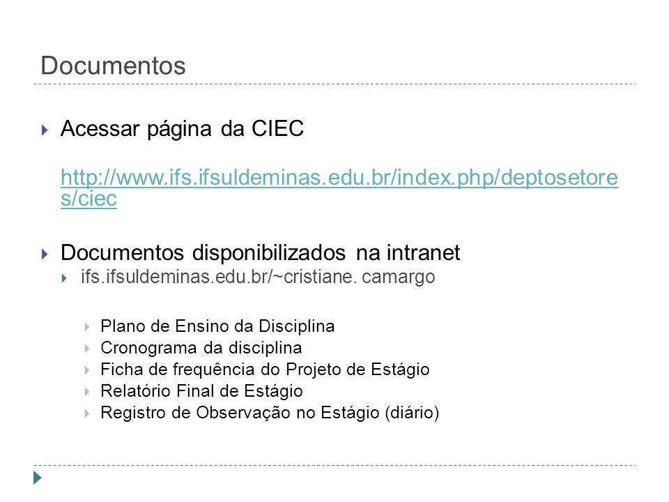 Documentos Acessar página da CIEC