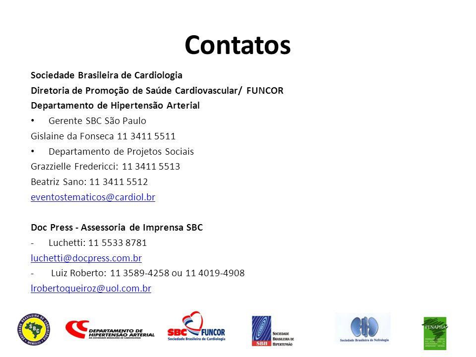 Contatos Sociedade Brasileira de Cardiologia
