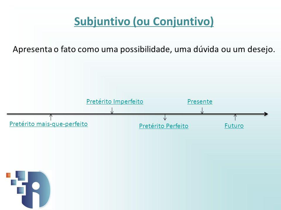 Subjuntivo (ou Conjuntivo)