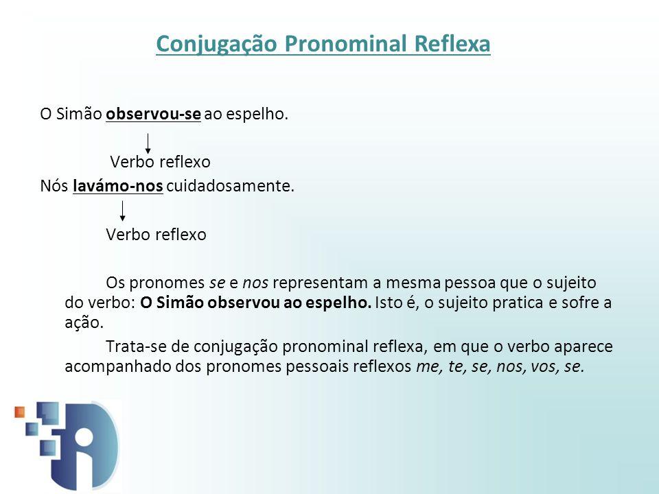 Conjugação Pronominal Reflexa