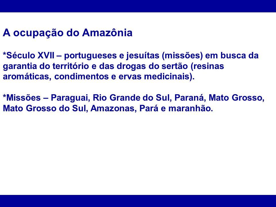 A ocupação do Amazônia