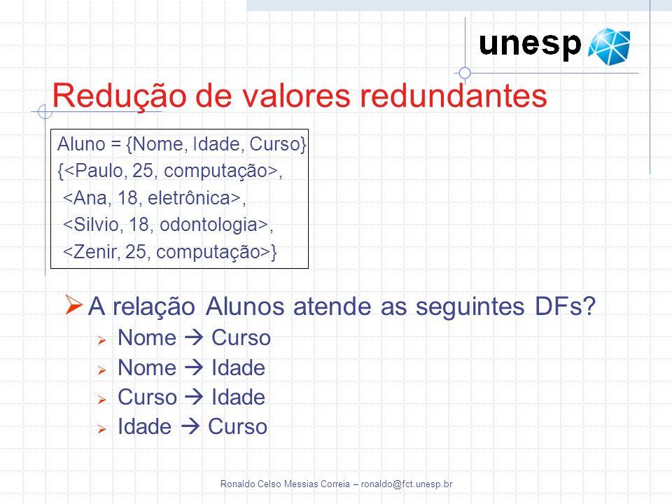 Redução de valores redundantes