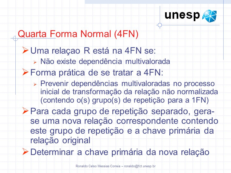 Quarta Forma Normal (4FN)
