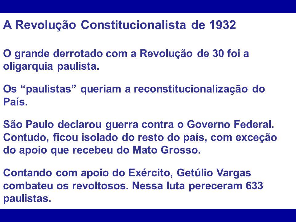 A Revolução Constitucionalista de 1932