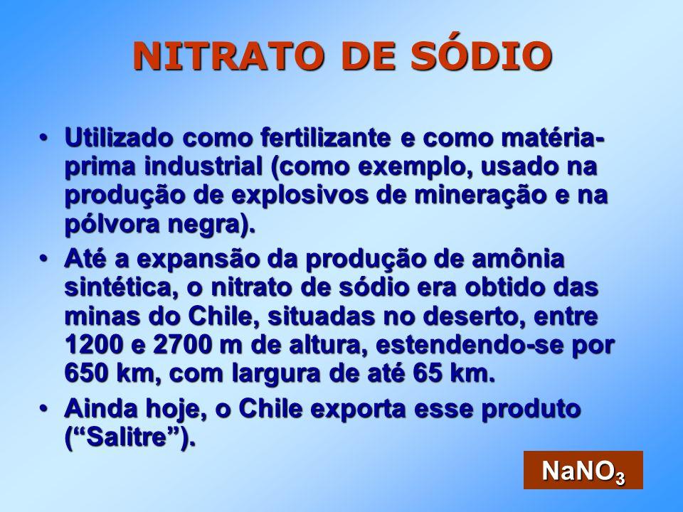 NITRATO DE SÓDIO