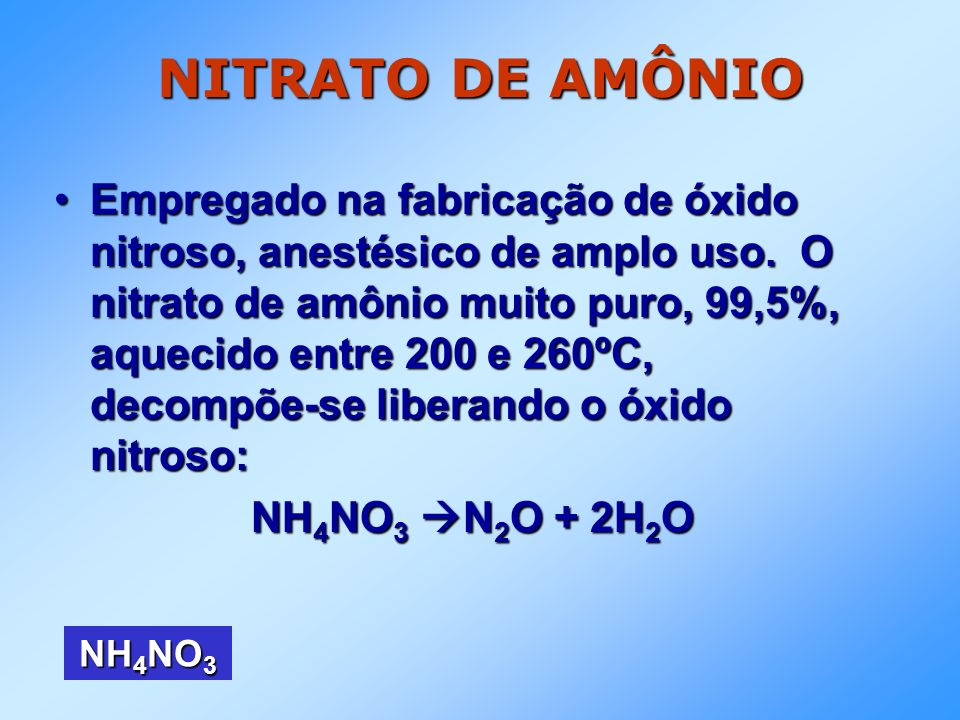 NITRATO DE AMÔNIO