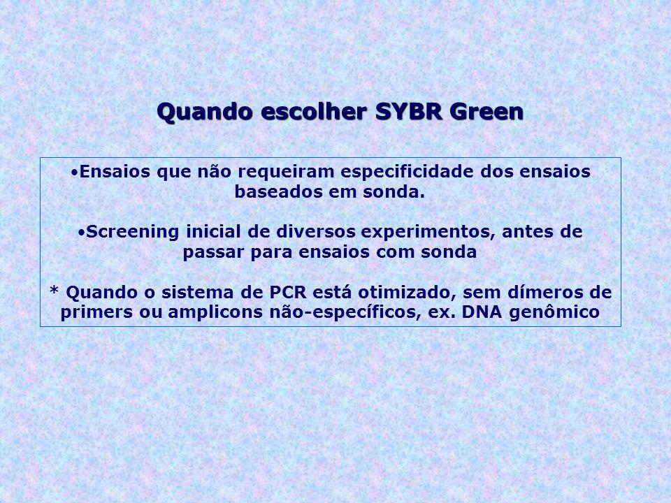 Quando escolher SYBR Green