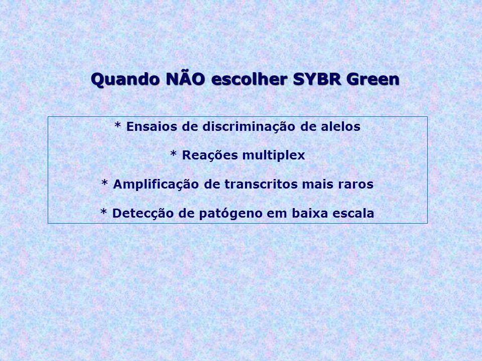 Quando NÃO escolher SYBR Green