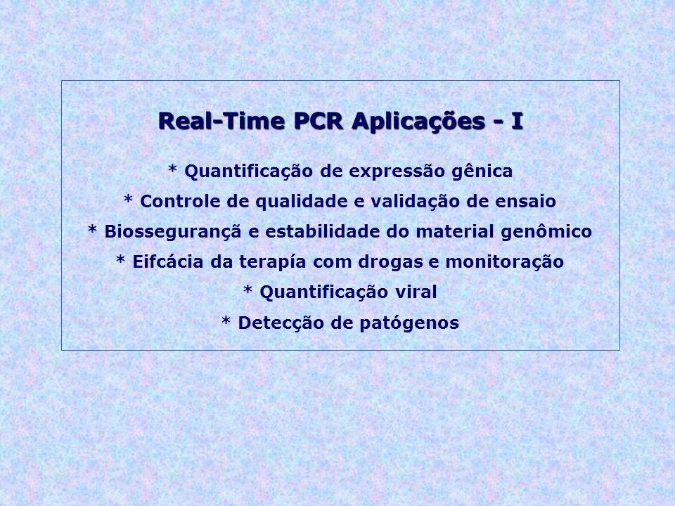 Real-Time PCR Aplicações - I