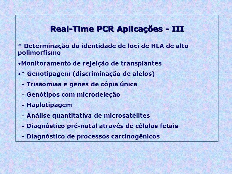Real-Time PCR Aplicações - III