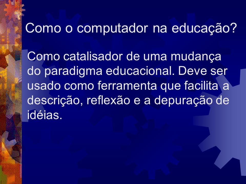 Como o computador na educação