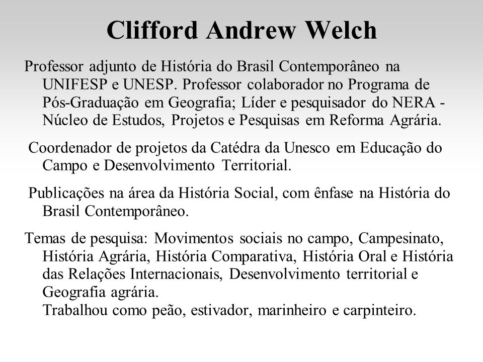 Clifford Andrew Welch