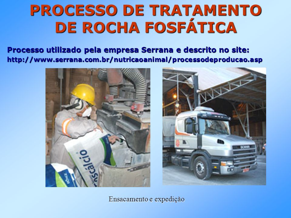 PROCESSO DE TRATAMENTO DE ROCHA FOSFÁTICA