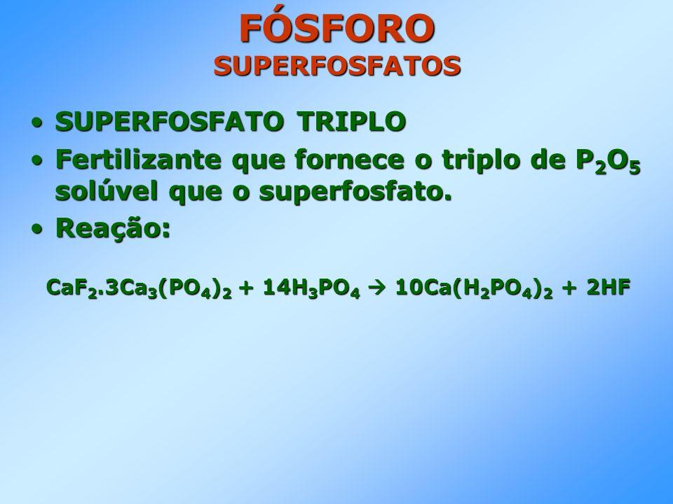 FÓSFORO SUPERFOSFATOS