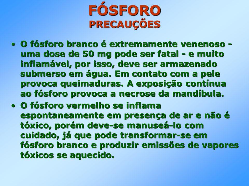 FÓSFORO PRECAUÇÕES
