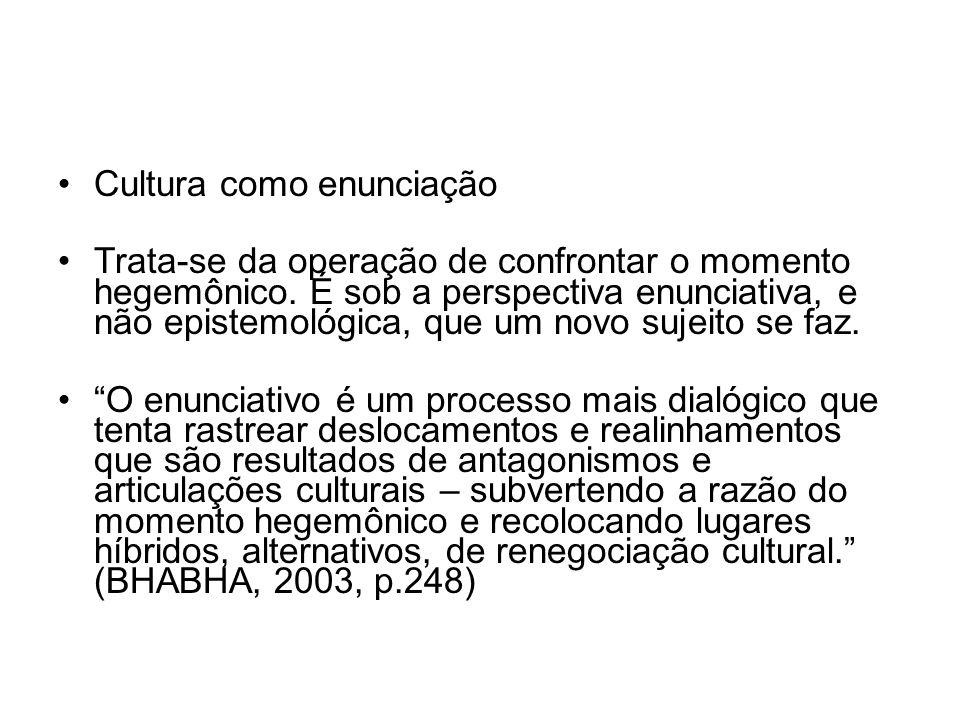 Cultura como enunciação