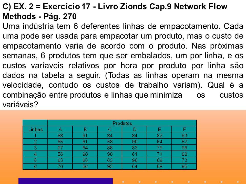 C) EX. 2 = Exercício 17 - Livro Zionds Cap