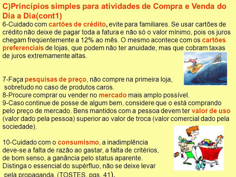 C)Princípios simples para atividades de Compra e Venda do Dia a Dia(cont1)