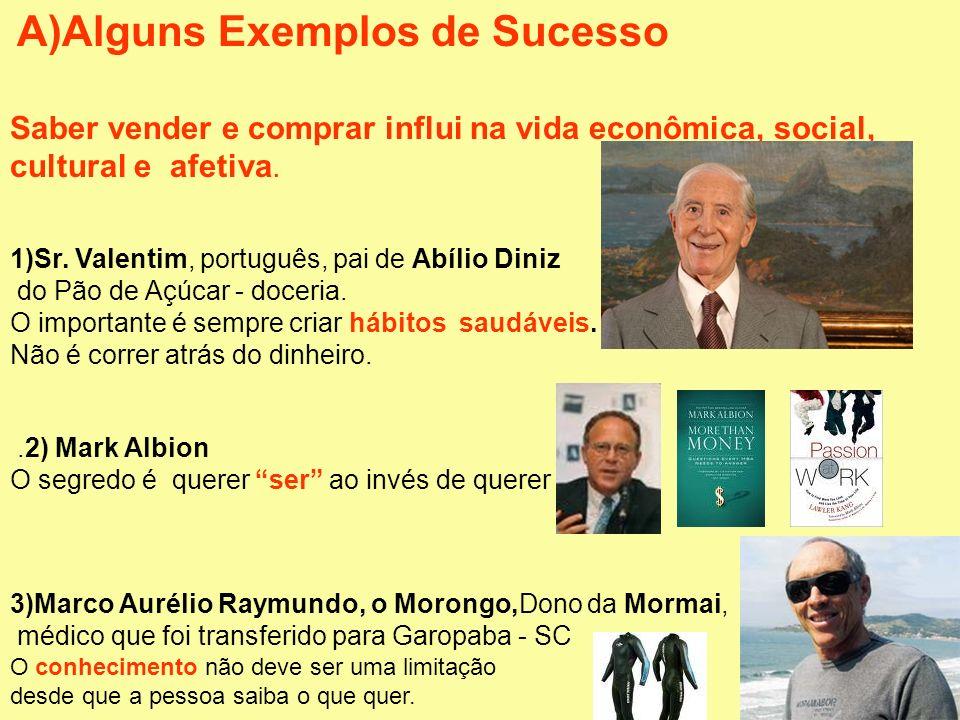 A)Alguns Exemplos de Sucesso