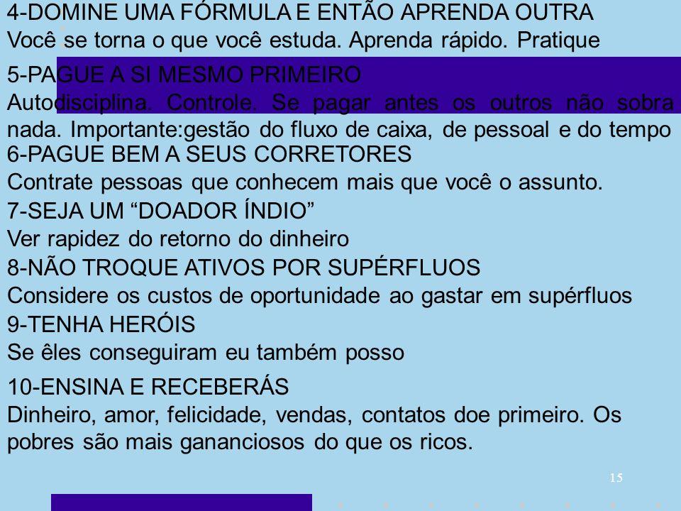 4-DOMINE UMA FÓRMULA E ENTÃO APRENDA OUTRA