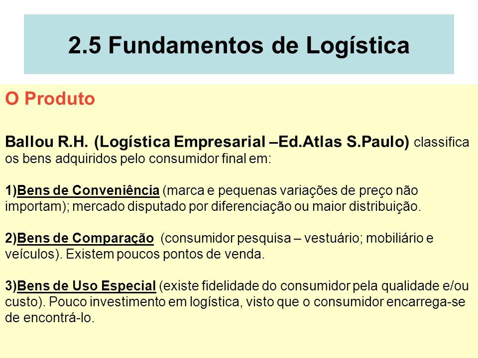 2.5 Fundamentos de Logística