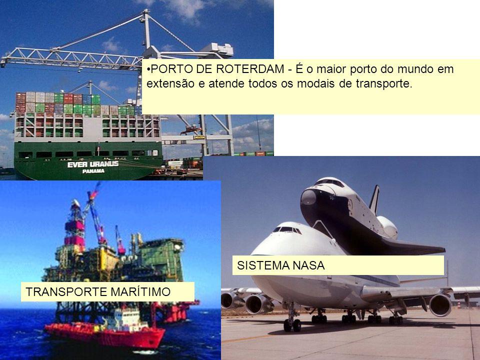 PORTO DE ROTERDAM - É o maior porto do mundo em extensão e atende todos os modais de transporte.