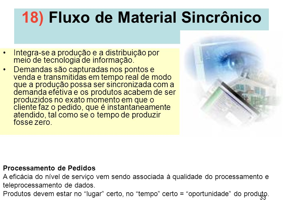 18) Fluxo de Material Sincrônico