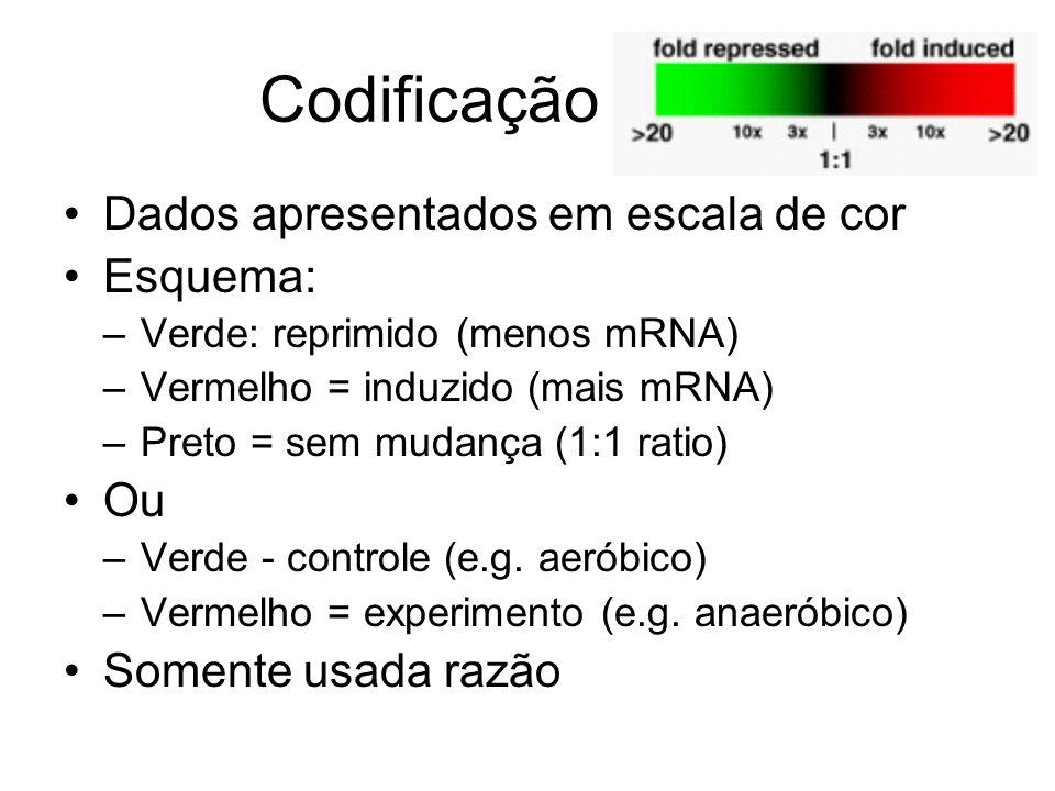 Codificação de cor Dados apresentados em escala de cor Esquema: Ou