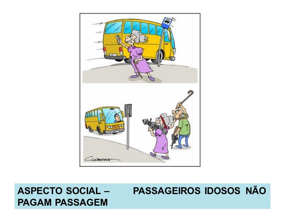 ASPECTO SOCIAL – PASSAGEIROS IDOSOS NÃO PAGAM PASSAGEM