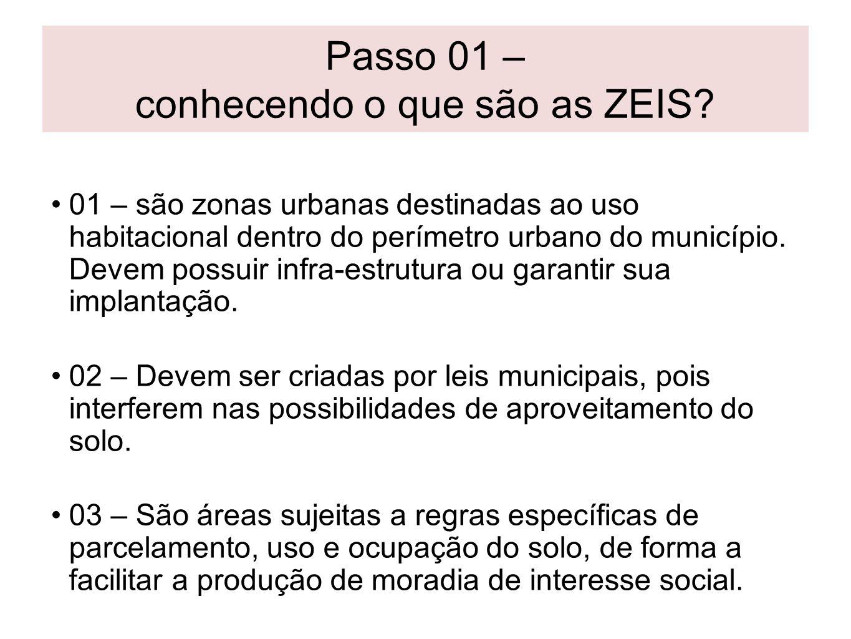 Passo 01 – conhecendo o que são as ZEIS