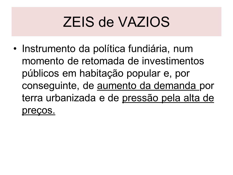 ZEIS de VAZIOS