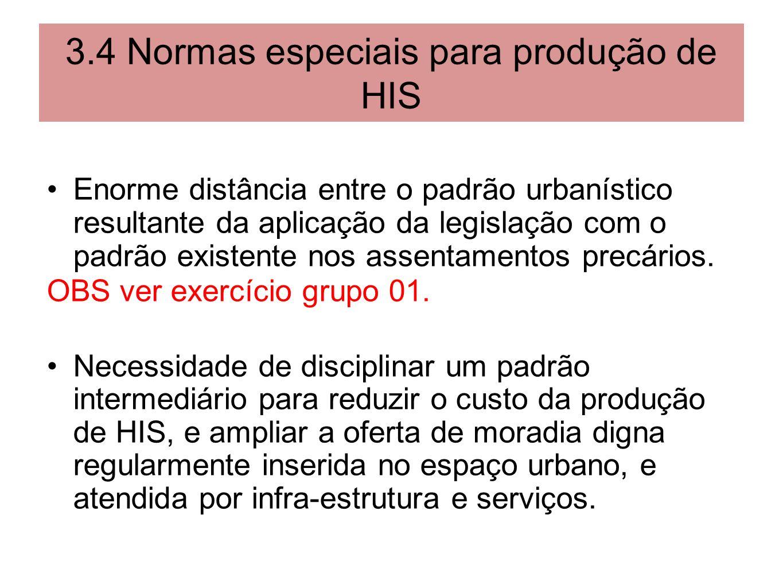 3.4 Normas especiais para produção de HIS